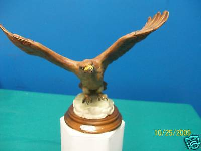 Eagle on Wood Base.9 inch Wingspan,Made in Italy