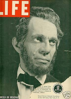 Life Magazine October 31, 1938 Lincoln and Tom Dewey