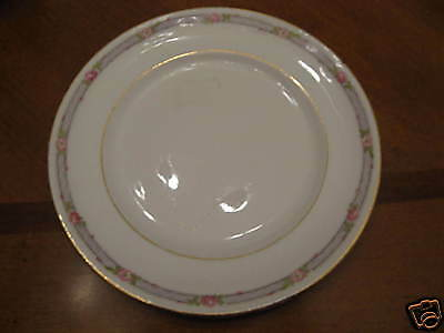 Derwood, W.S. George 126A, 3 bread plates gold & roses
