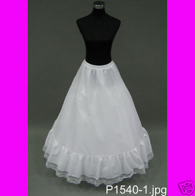 Super FULL A-LINE Petticoat Slip Crinoline Wedding Gown