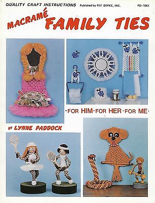 Macrame People Animals Home Decor Patterns Macrame Family Ties Craft Book PD1061