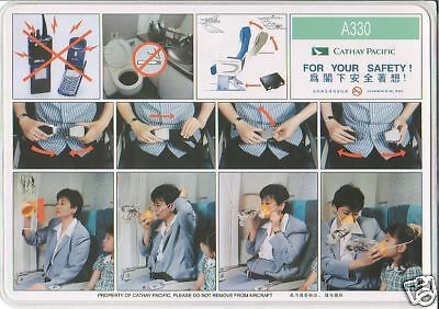 Safety Card - Cathay Pacific - A330 (S1740)