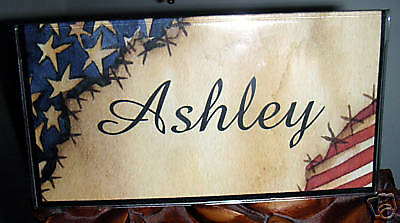 Checkbook Cover Personalized Stars And Stripes