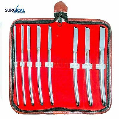 "8 Hegar Dilator Sounds Set 7.5"" Gyno Surgical Instrument"