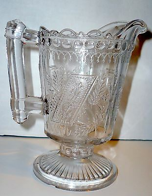 Antique, Beautiful Clear Glass Creamer, Pedestal, Scallop Pitcher