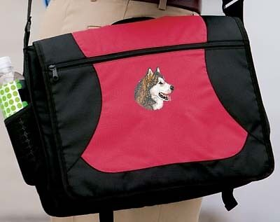 ALASKAN MALAMUTE embroidered messenger bag ANY COLOR