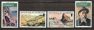 Guernsey # 115-8 Mnh Paintings By Artist Renoir