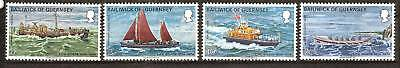 Guernsey # 91-4 Mnh National Lifeboat Institution Boats
