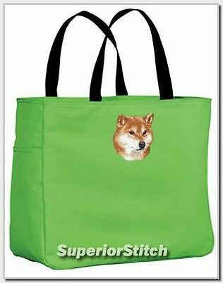 SHIBA INU embroidered essential tote bag ANY COLOR