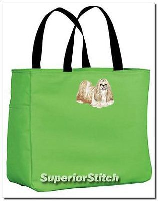 SHIH TZU embroidered essential tote bag ANY COLOR