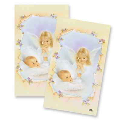 Baptism Christening Custom Remembrance Personalized Prayer Cards 24 Laminated