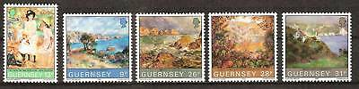 Guernsey # 264-268 Mnh Paintings Art Portraits