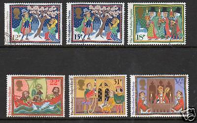 GB 1986 Christmas fine used set stamps