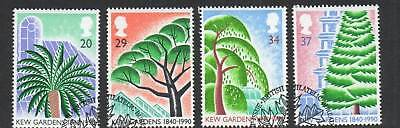 GB 1990 Kew Gardens 150th Anniv fine used set stamps