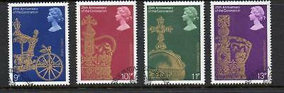 GB 1978 Coronation 25th Anniv fine used set stamps
