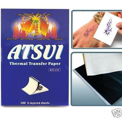 100 Stencil Outline Carbon Transfer Paper Tattoo Supply