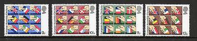 GB 1979 European Assembly Elections MNH mint set stamps