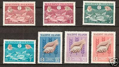 Maldive Islands # 117-23 Mnh Freedom From Hunger