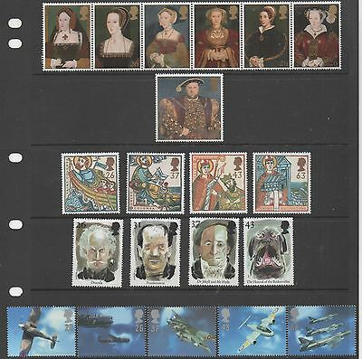 GB 1997 complete commemmoratives unmounted mint 9 sets of stamps