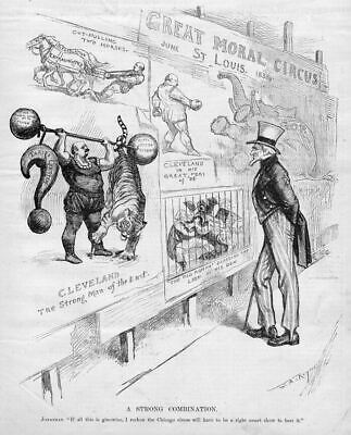 Republican Elephant St. Louis Uncle Sam, Chicago Circus