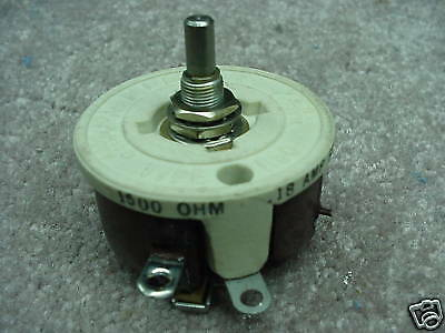 "Memcor 1500 Ohm  50  Watt Rheostat 1/2"" Shaft"