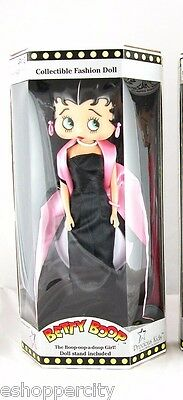 "Betty Boop Black Glamour Doll 12""  Figure New"