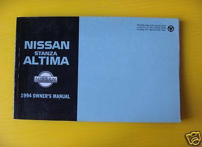 altima stanza 1994 nissan owners owner s manual f ship 18 52 rh picclick com 2001 Nissan Altima 1999 Nissan Altima