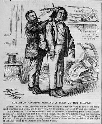 Robinson Crusoe Making A Man Of His Friday Indian Grant