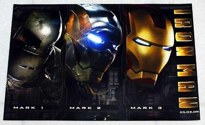 Iron Man Mini Promo Poster From 2008 Stark Industries Mark 1, 2, 3