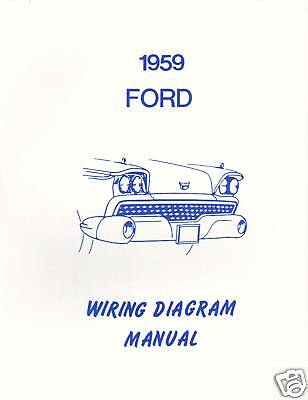 FORD 1959 GALAXIE, Fairlane & Custom Wiring Diagram Manual - $11.99