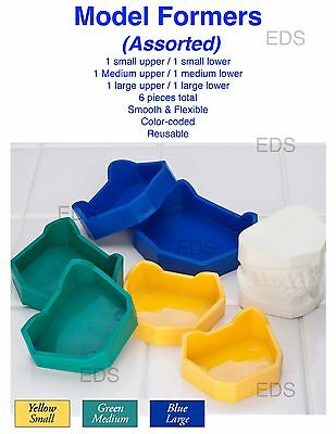Dental Lab Model Formers Kit - 6 pcs Assorted