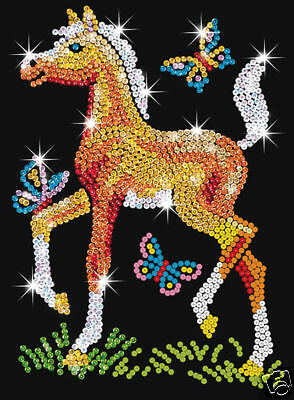 Junior Sequin Art Kit - Foal- 0905 - Great Craft Kit