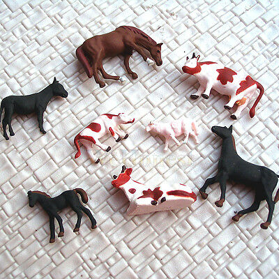 40 pcs HO painted Farm Animals ( 8 different poses ) #A