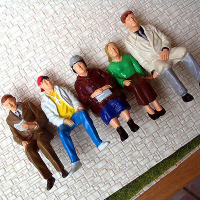 5 pcs G scale Figures 1:22.5 All Seated Painted People