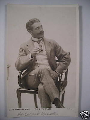 Real Photo PC Brit actor CYRIL MAUDE Rotary 1147B c1905