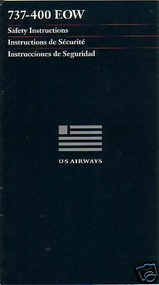 Safety Card - US Airways - B737 400 EOW - 1997 (S2202)