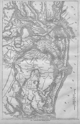 Civil War Map Of Charleston Plantations, Inlets, Roads