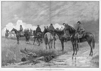 General Grant On Horseback At The Front, Antique Print