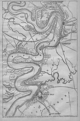 Civil War Map Of Mississippi, Landowners Theatre Of War