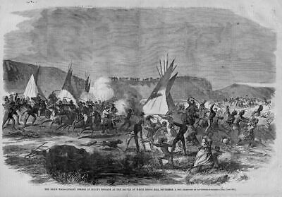 Sioux Indian War Battle Of White Stone Hill 1863 Sully's Brigade Swords Teepee