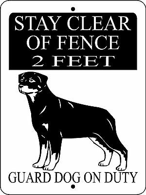 Rottweiler  Dog  Aluminum Sign Guard Dog 3291