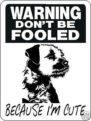 Border Terrier Security Aluminum Sign Warning Dog 3340