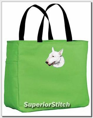 BULL TERRIER embroidered essential tote bag ANY COLOR