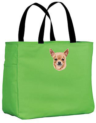 CHIHUAHUA embroidered essential tote bag ANY COLOR
