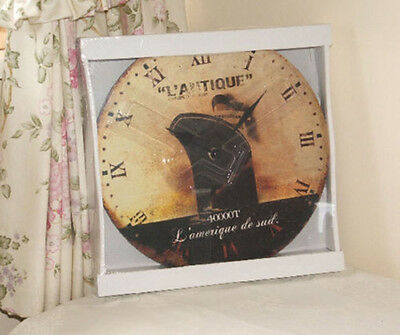 Shabby Chic French Provence Wall Clock New Free P&p
