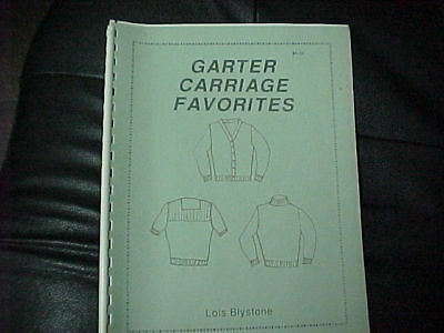 Garter Carriage Favorites Easy To Knit In Sizes 36-50