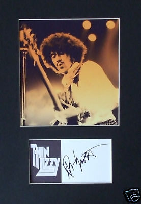 Phil Lynott Thin Lizzy Signed Mounted Photo Display