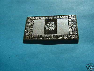 Mexico Flag Silver Producer 999 Silver Mint Art Bar Rare Cool Item