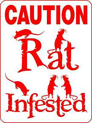 RAT Alum Sign Vinyl Decal Mouse Cat Dog Pets D3115