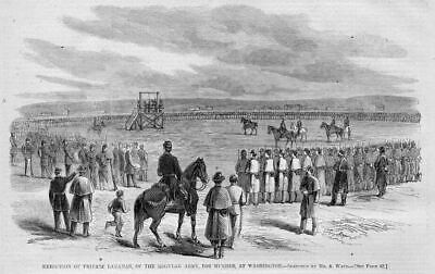 Execution Of Private Lanahan For Murder, Washington